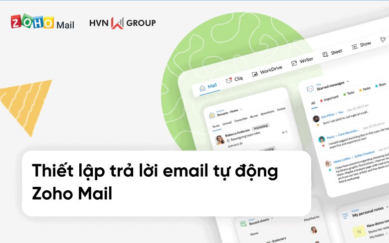 Huong dan thiet lap tra loi email tu dong Zoho Mail