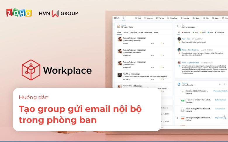 Tao group gui email noi bo trong phong ban
