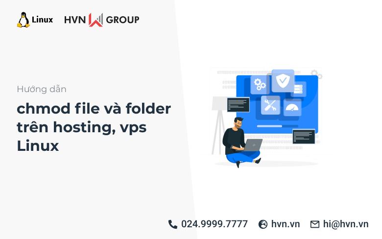 chmod file va folder tren hosting vps