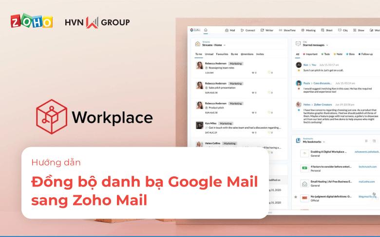 dong bo danh ba Google Mail sang Zoho Mail