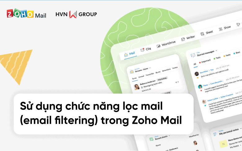 su dung chuc nang loc mail email filtering trong Zoho Mail