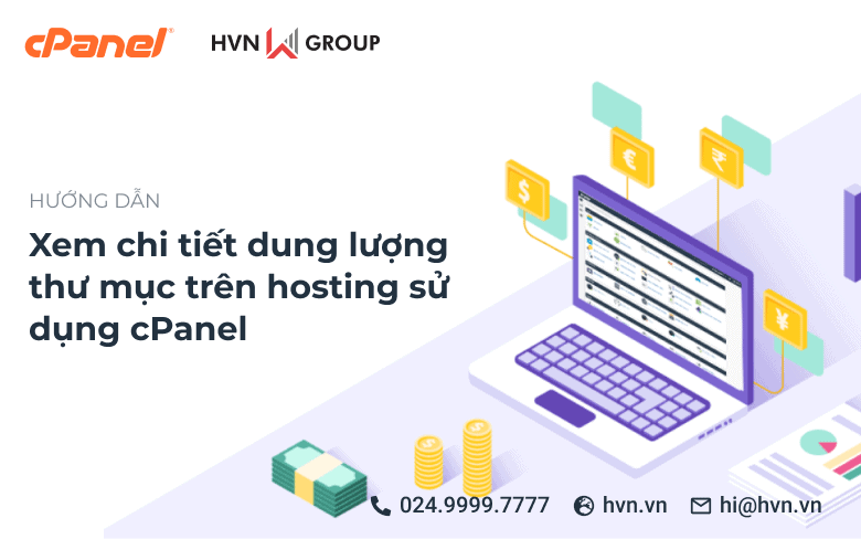 xem chi tiet dung luong thu muc tren hosting su dung cPanel